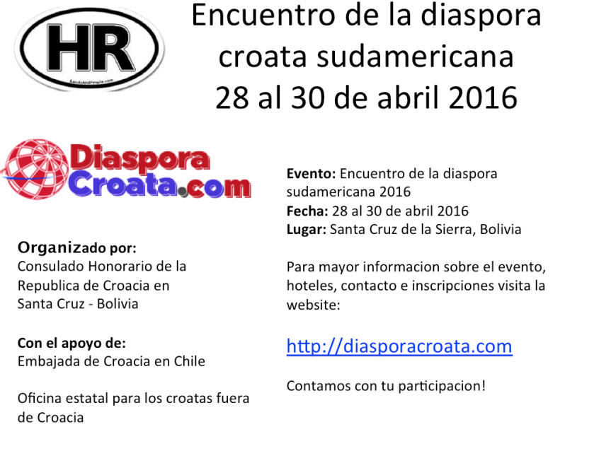 LA VOZ DE CROACIA: Entrevista con Embajadora Nives Malenica sobre el proximo Encuentro de la Diaspora Sudamericana en Santa Cruz,Bolivia.