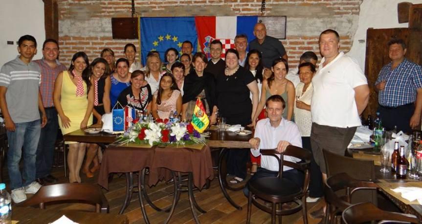 Cena de bienvenida de la comunidad croata en Santa Cruz, Bolivia a Emb. NivesMalenica