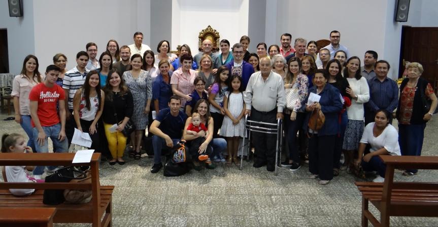 Misa en croata celebrada en Santa Cruz,Bolivia