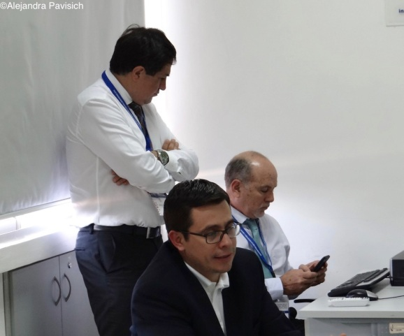Mr. Jorge Kuljis (standing) and Miguel Zabala hosted the business roundtable