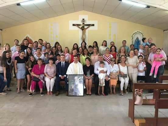 Foto de la misa de la comunidad croata en Santa Cruz