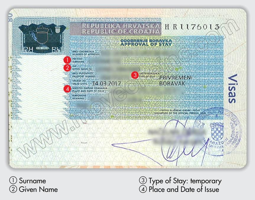 Fondos necesarios para obtener la visa de residencia temporal para becarios delCroaticum
